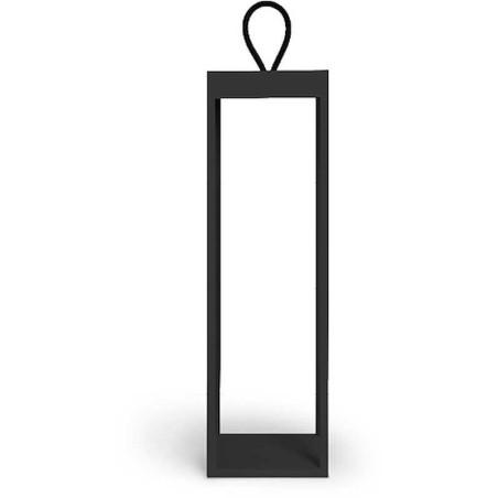 LOGICA - DIOGENE NERA H50 CM LAMPADA A LED SENZA FILO RICARICABILE DIMMERABILE
