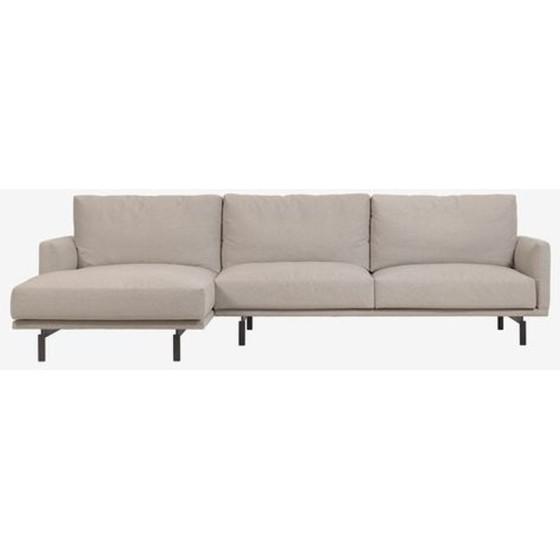 KAVE HOME - Divano Galene 3 posti con chaise longue sinistra beige 314 cm