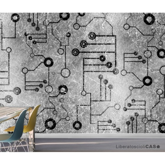 CARTA DA PARATI ELEMENTS Circuit WALLPEPPER