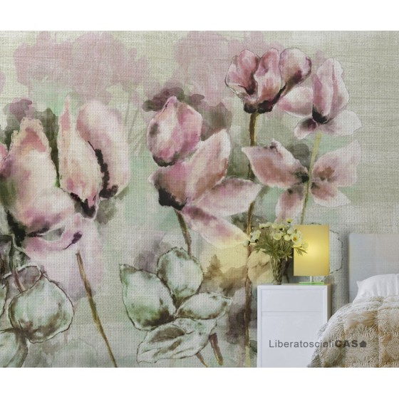 CARTA DA PARATI FRENCH CHIC Fading cyclamen WALLPEPPER